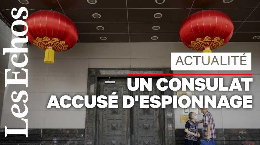 Illustration pour la vidéo Le consulat de Chine à Houston a 72 heures pour fermer boutique