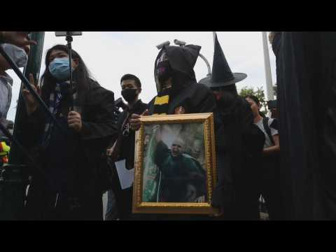 Thai students protest again on the streets of Bangkok