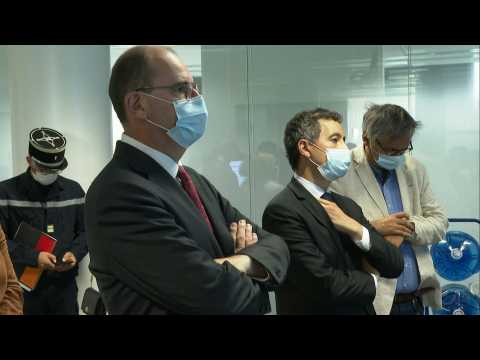 Covid-19: French PM visits Lille regional health agency