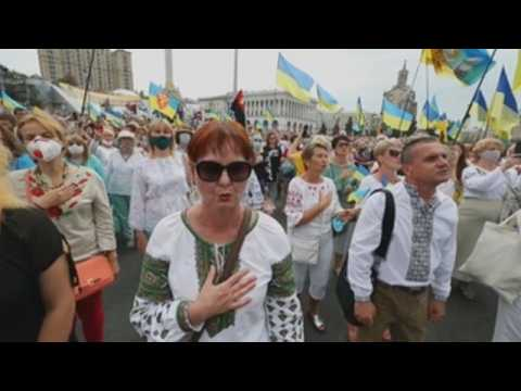 Thousands celebrate in Kiev Independence Day
