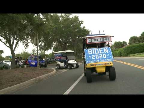 Florida seniors rally on golf carts to celebrate Biden-Harris ticket