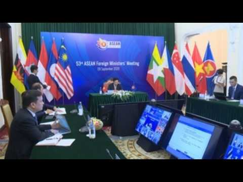 Pandemic, South China Sea in focus at ASEAN foreign ministers' meeting