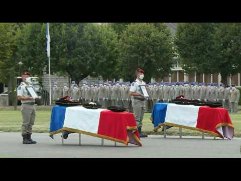French military pays national tribute to soldiers killed in Mali