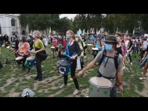 Extinction Rebellion protest continue in London