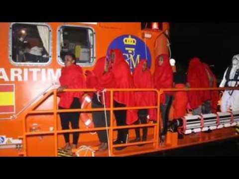 41 migrants traveling in boat arrive at Spanish port of Motril