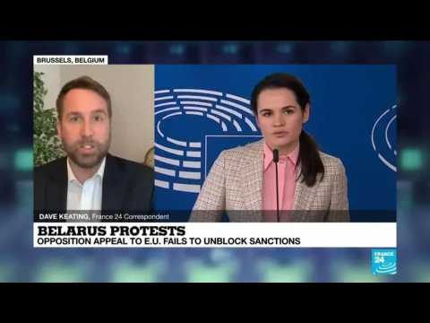 Belarus protests: Opposition appeal to EU fails to unblock sanctions