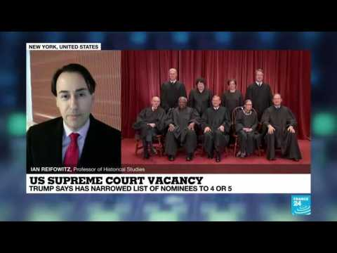 US supreme court vacancy: Trump says will announce nominee by the end of the week