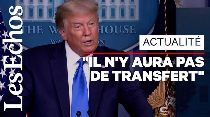 Illustration pour la vidéo Donald Trump refuse de dire s'il cédera pacifiquement le pouvoir en cas de défaite