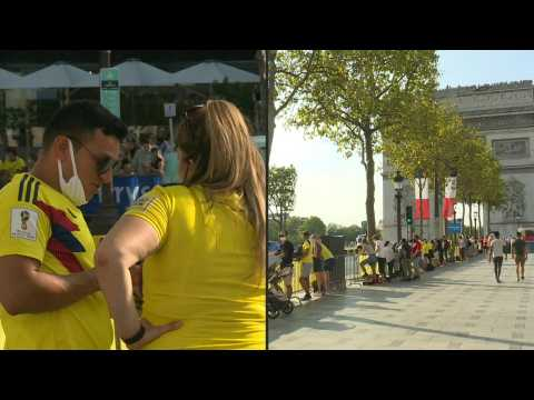 Champagne on ice with Tour de France arriving in Paris