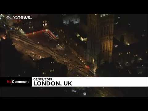 Anti-Brexit protesters hold night rally in Westminster
