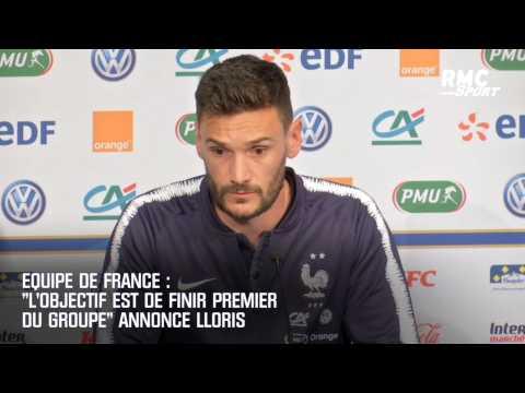"""Equipe de France : """"L'objectif est de finir premier du groupe"""" annonce Lloris"""