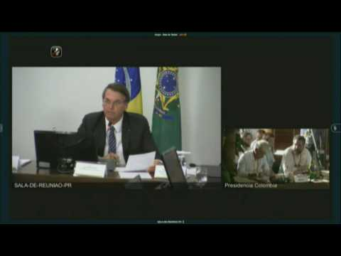 Brazil's Bolsonaro makes video call to Amazon summit