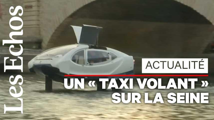Illustration pour la vidéo Les SeaBubbles, « taxis volants » sur l'eau, reprennent leurs tests sur la Seine