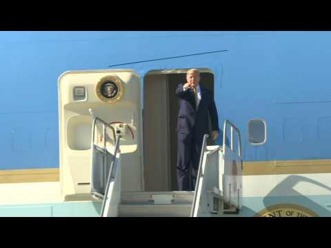 Trump arrives in Los Angeles ahead of a two-day fundraising trip
