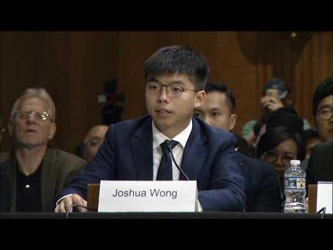 HK's Joshua Wong takes cause to US Congress, urges pressure on Beijing