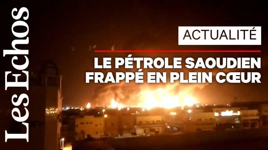 Illustration pour la vidéo Arabie Saoudite : les images de l'attaque contre les deux installations pétrolières d'Aramco