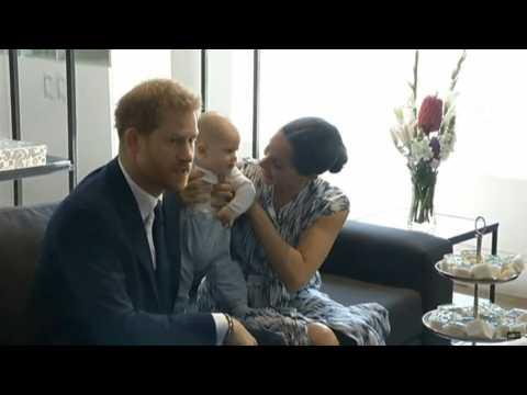Prince Harry, Meghan Markle and baby Archie meet Desmond Tutu