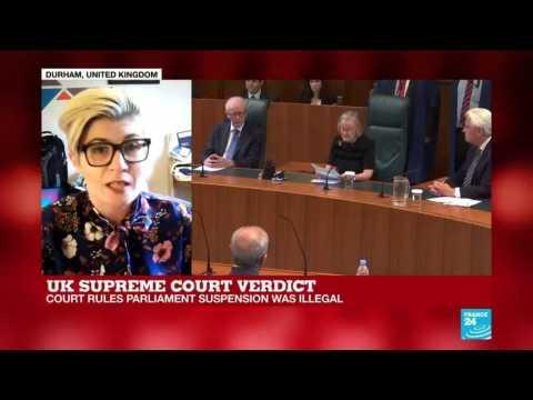 UK Supreme Court rules on Parliament suspension - Durham University's Aoifa O'Donoghue's analysis