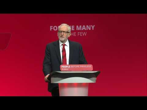 UK Labour leader Corbyn calls on PM Johnson to resign