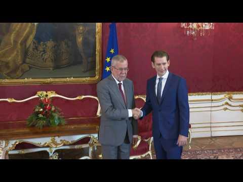 Sebastian Kurz meets with the Austrian President following election success