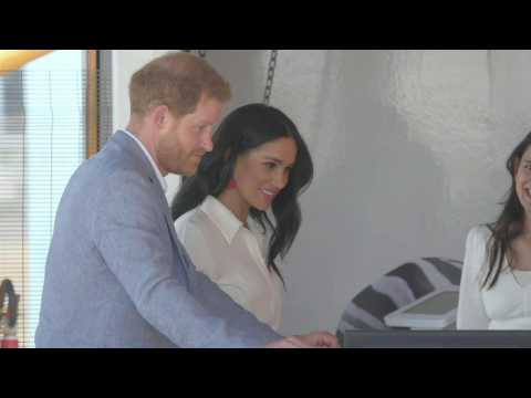 Prince Harry and Meghan Markle visit Johannesburg township