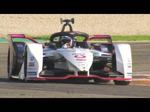 Formula E Test Drives in Valencia, Porsche 99X Electric Car Number 36