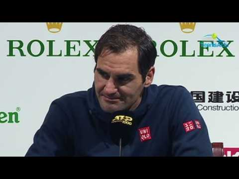 ATP - Shanghai 2019 - Roger Federer's answer to Gerard Piqué, the boss of the new Davis Cup