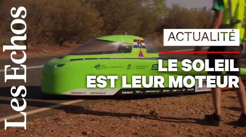 Illustration pour la vidéo Top départ pour la « Formule 1 » des voitures solaires, en Australie