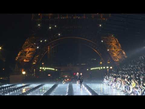 Yves Saint Laurent catwalk show at Paris Fashion Week