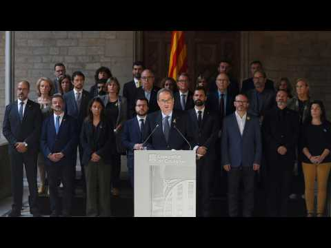 Catalan regional leader Quim Torra calls for amnesty for convicted separatists