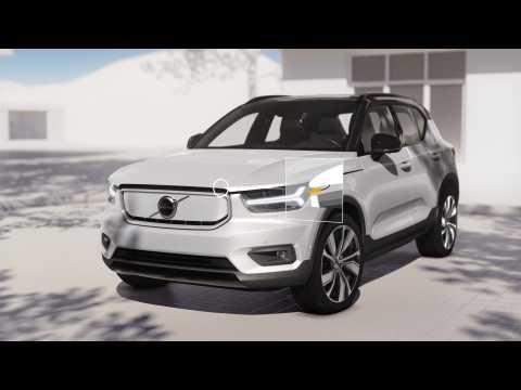 Volvo XC40 Recharge Frunk Animation