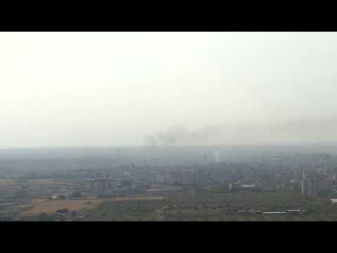Turkey bombards key Syria border town