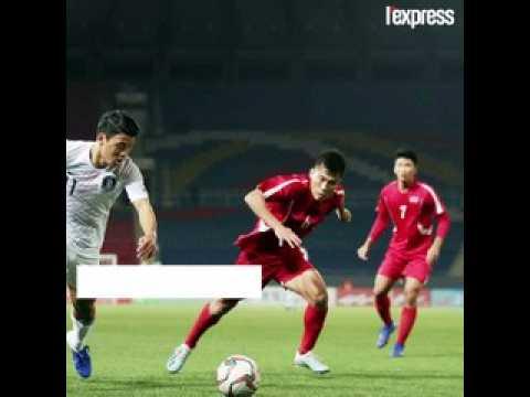 L'équipe de football sud-coréenne a affronté la Corée du Nord dans un match très tendu