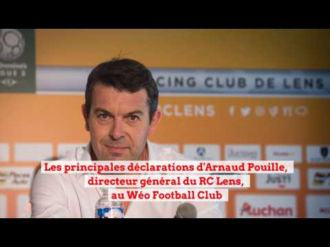Arnaud Pouille, directeur général du RC Lens, au Weo Football Club