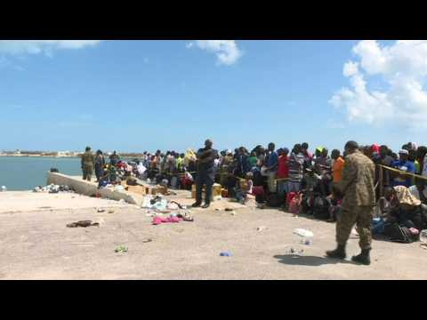Bahamians await ferry to evacuate them to Nassau