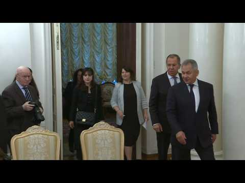 French foreign, defence ministers meet Russian counterparts in Moscow