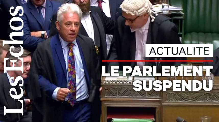Illustration pour la vidéo Scènes surréalistes au Parlement britannique lors de sa suspension