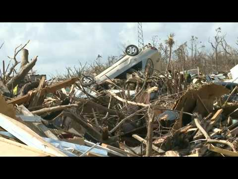 Snapped trees, dilapidated homes: widespread damage in Marsh Harbour