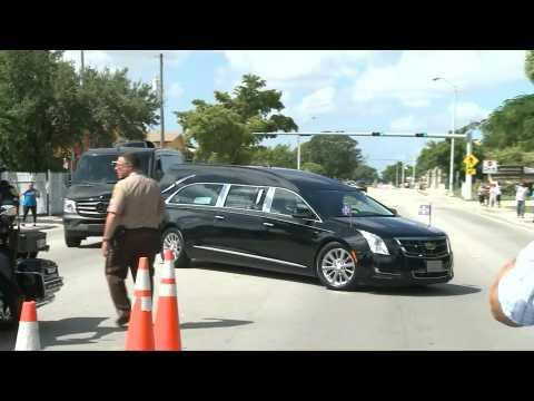 Mexican singer Jose Jose's casket arrives at public funeral