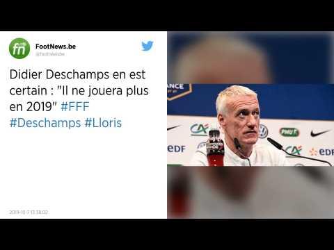 Equipe de France. Lloris ne devrait pas rejouer avant 2020, selon Deschamps