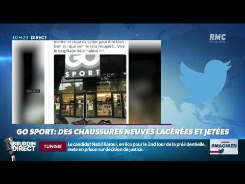 #Magnien, la chronique des réseaux sociaux : Des chaussures neuves Go Sport lacérées et jetées - 19/09
