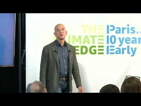 Bezos pledges Amazon will meet Paris climate goals 10 years early