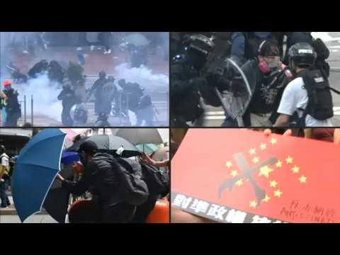 Intense Hong Kong clashes ahead of China's 70th anniversary