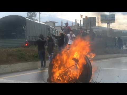Clashes at protests in Ecuador over fuel price hike