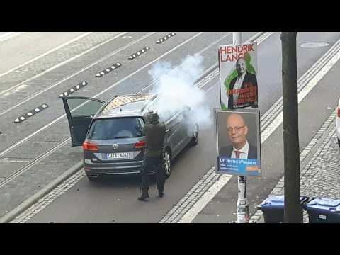 Man opens fire on street in Halle, Germany