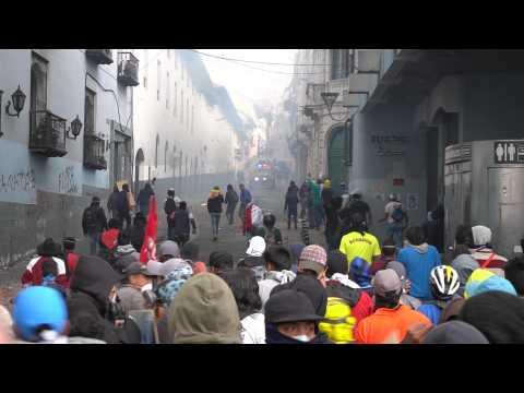 Ecuador oil output hit as protests worsen