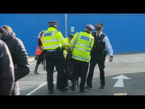 Arrests as Extinction Rebellion activists disrupt London airport
