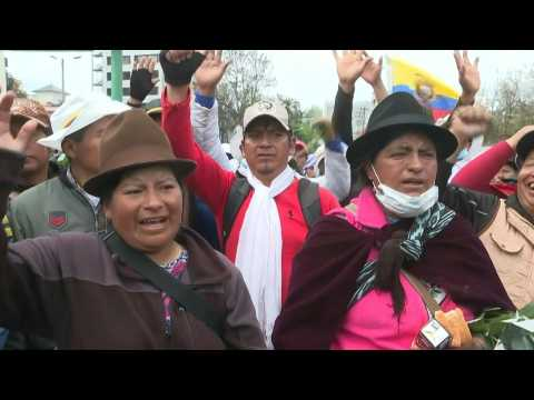 Indigenous community continues week of protests in Ecuador