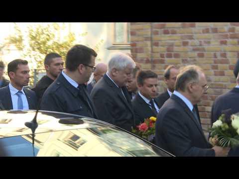 German Interior Minister Horst Seehofer visits Halle synagogue