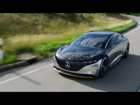 Mercedes-Benz VISION EQS - Driving Video